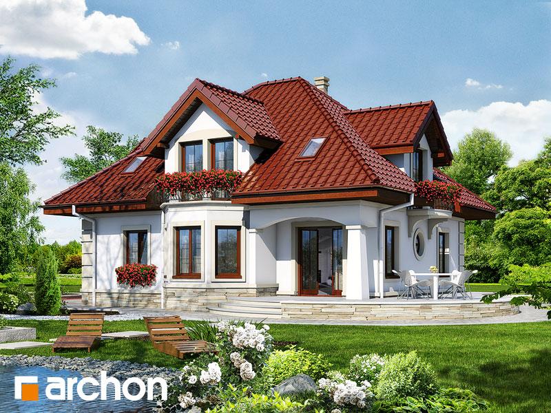 Проект будинку ARCHON+ Будинок під туями Вид 2