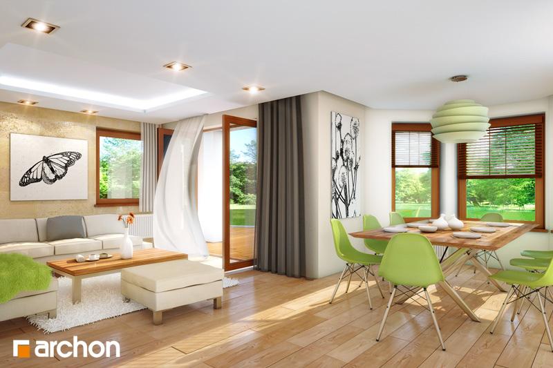 Проект будинку ARCHON+ Будинок під туями денна зона (візуалізація 1 від 1)