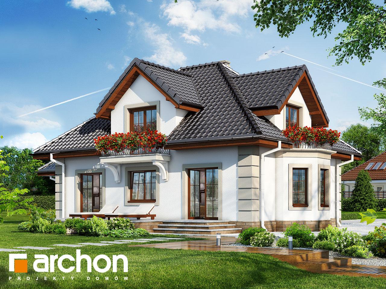 Проект будинку ARCHON+ Будинок в нектаринах 3 Вид 2
