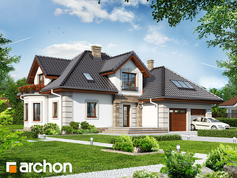 Проект будинку ARCHON+ Будинок в нектаринах 3 Вид 1