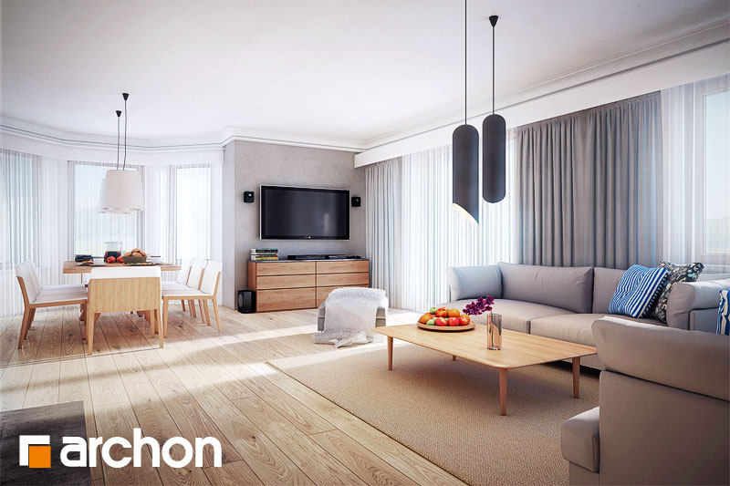 Проект будинку ARCHON+ Будинок в нектаринах 3 денна зона (візуалізація 1 від 2)