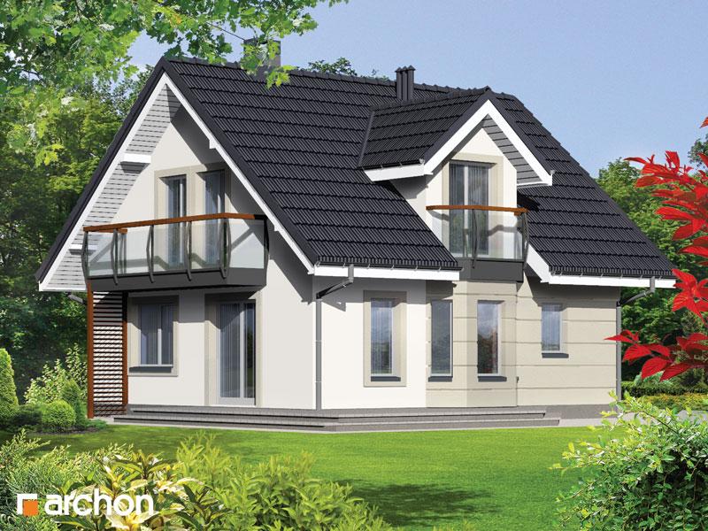 Проект будинку ARCHON+ Будинок в рододендронах (П) стилізація 4