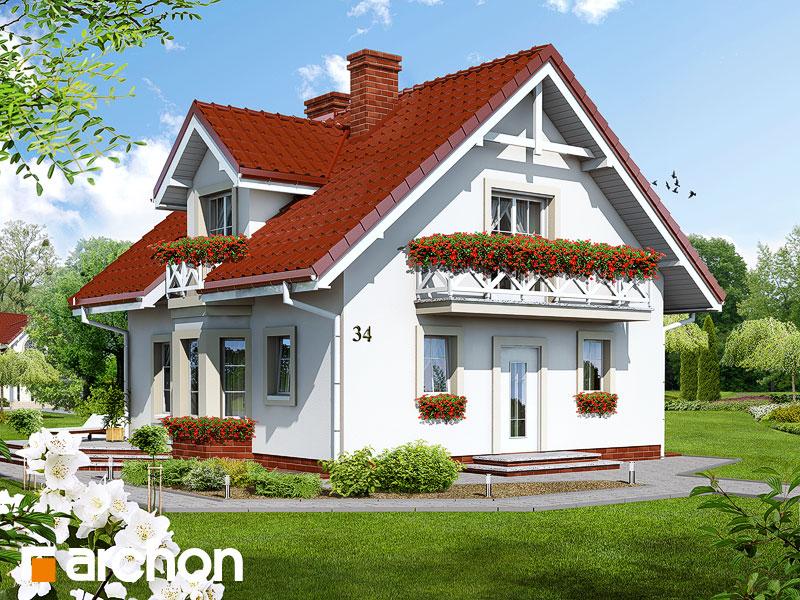 Проект будинку ARCHON+ Будинок в рододендронах (П) Вид 1