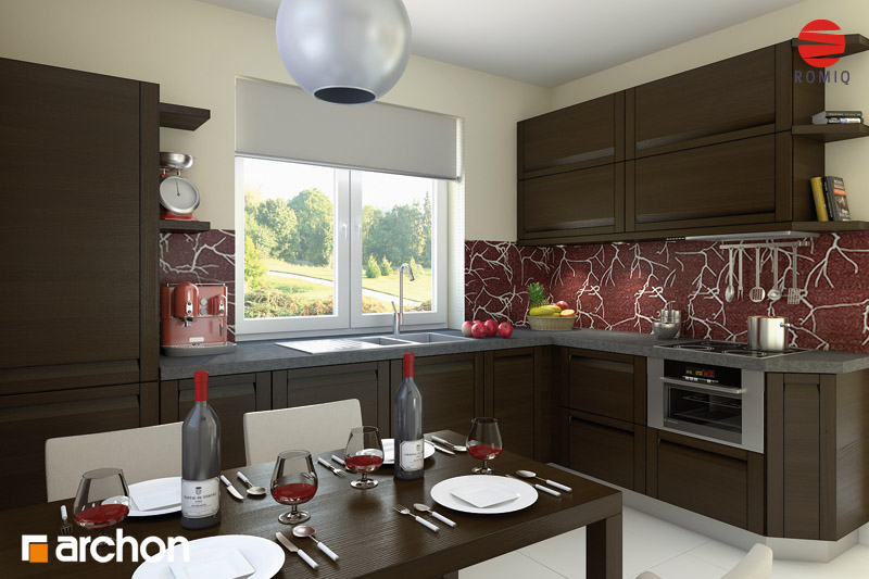 Проект будинку ARCHON+ Будинок під червоною горобиною 5 візуалізація кухні 1 від 1