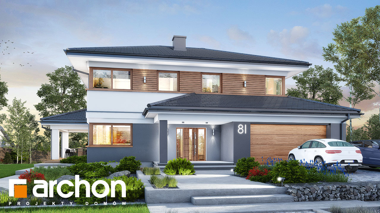 Проект дома ARCHON+ Вилла Миранда 11 (Г2)