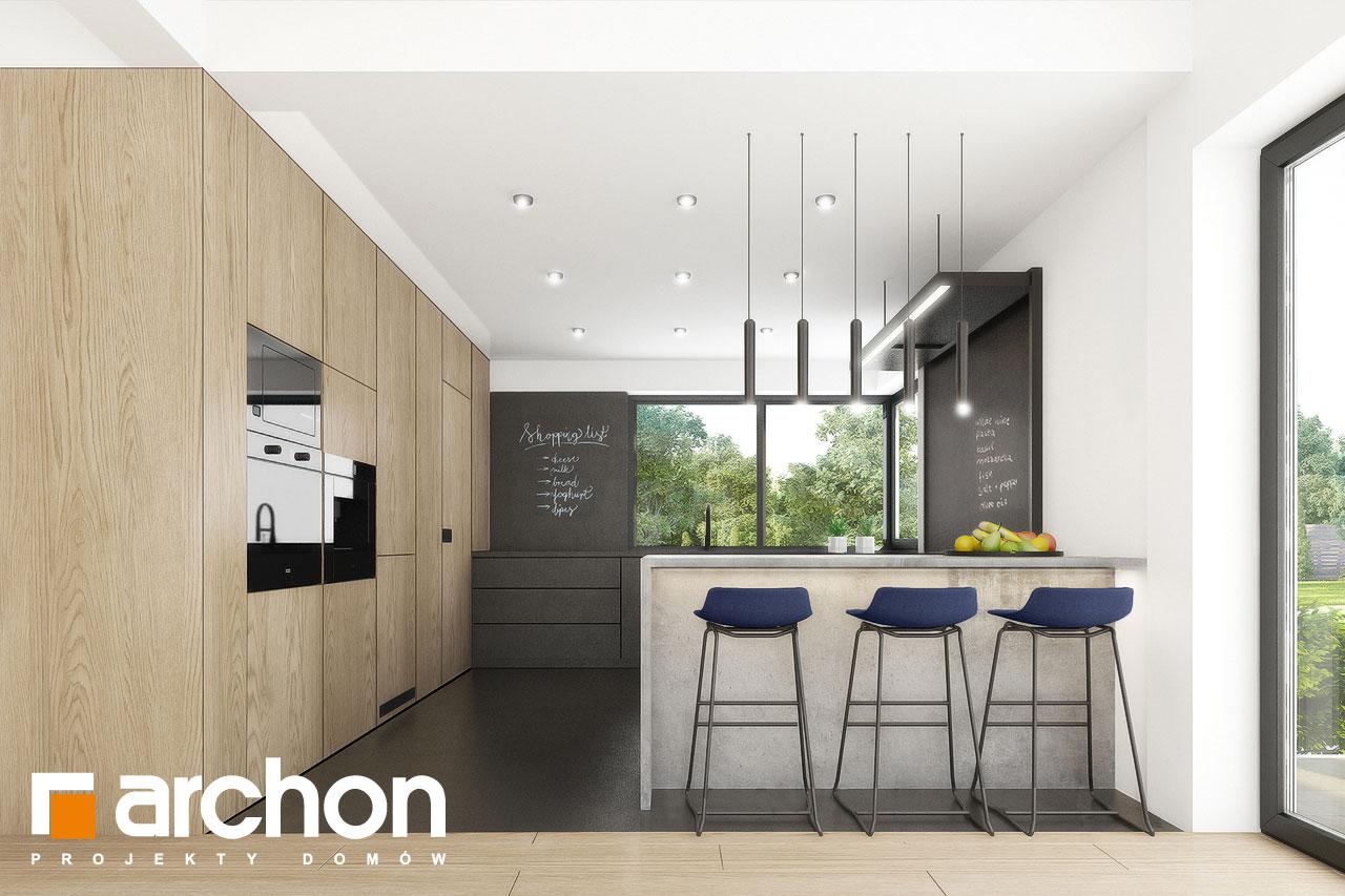 Проект дома ARCHON+ Вилла Миранда 11 (Г2) визуализация кухни 1 вид 1