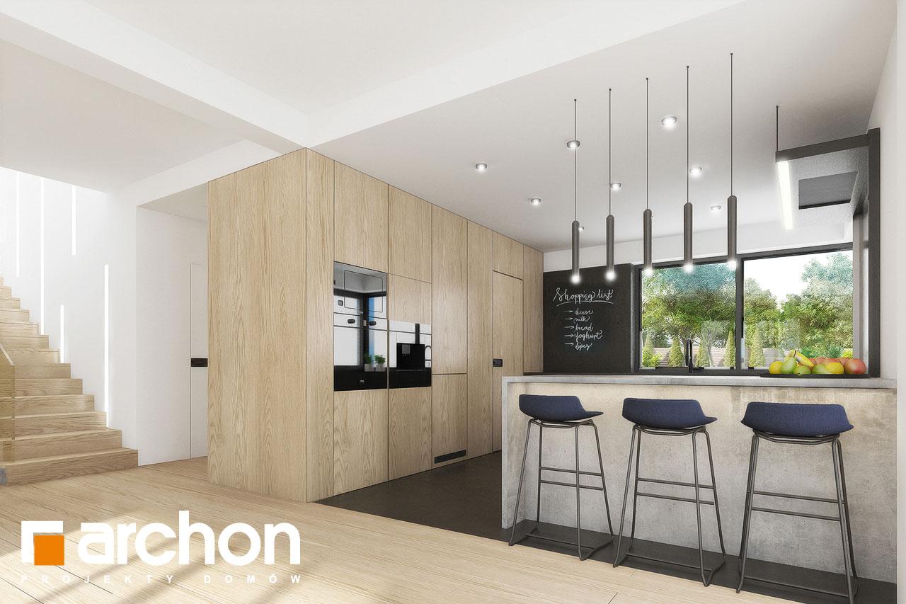Проект дома ARCHON+ Вилла Миранда 11 (Г2) визуализация кухни 1 вид 2
