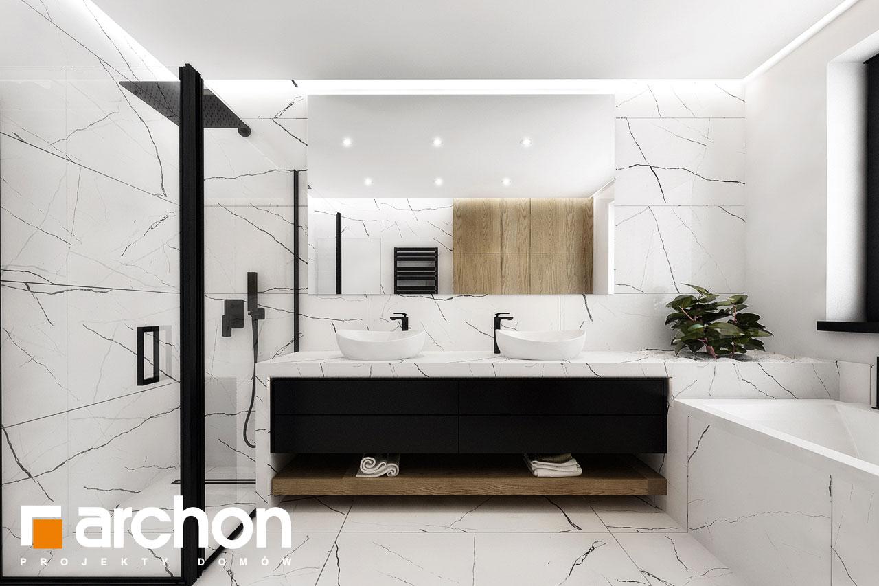 Проект дома ARCHON+ Вилла Миранда 11 (Г2) визуализация ванной (визуализация 3 вид 1)