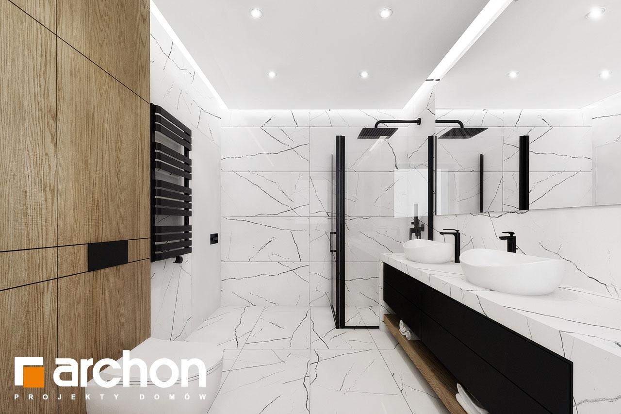 Проект дома ARCHON+ Вилла Миранда 11 (Г2) визуализация ванной (визуализация 3 вид 2)