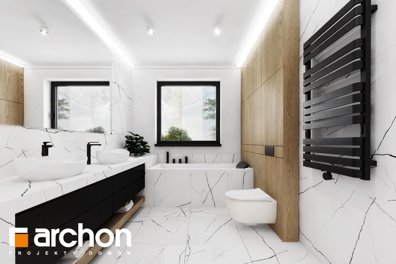 Проект дома ARCHON+ Вилла Миранда 11 (Г2) визуализация ванной (визуализация 3 вид 3)