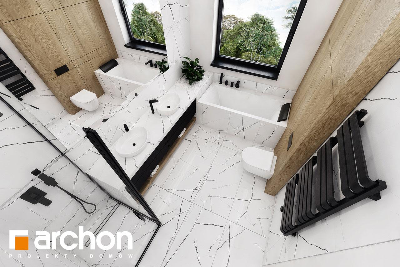 Проект дома ARCHON+ Вилла Миранда 11 (Г2) визуализация ванной (визуализация 3 вид 4)