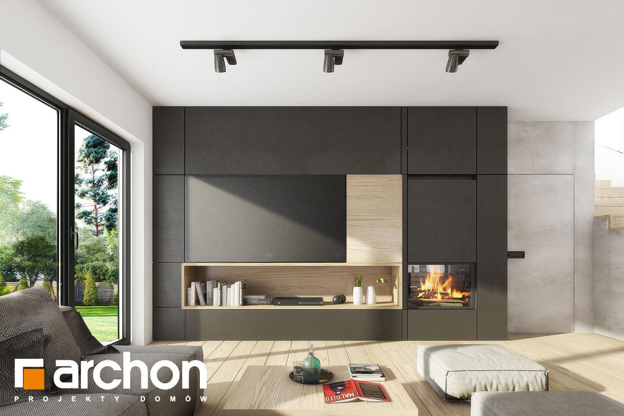 Проект дома ARCHON+ Вилла Миранда 11 (Г2) дневная зона (визуализация 1 вид 1)