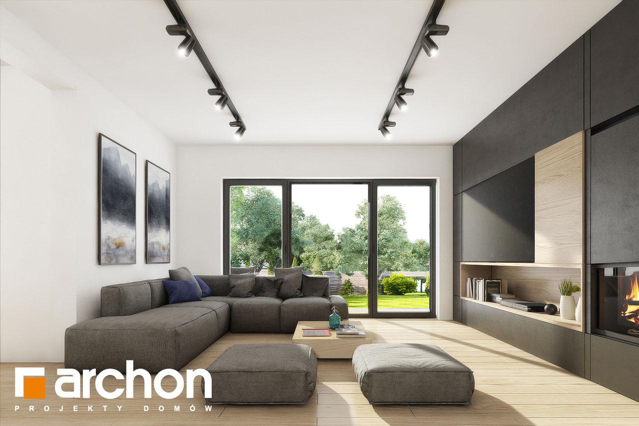 Проект дома ARCHON+ Вилла Миранда 11 (Г2) дневная зона (визуализация 1 вид 2)
