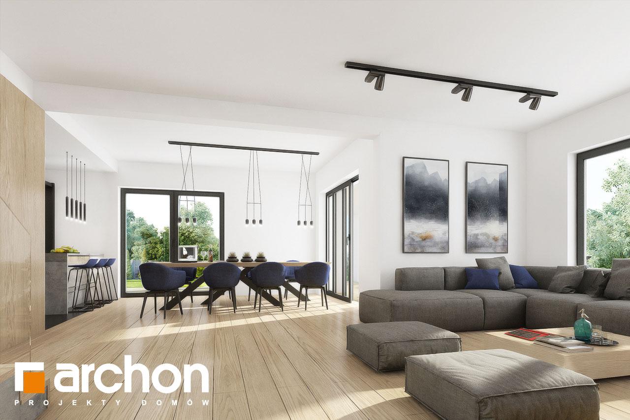 Проект дома ARCHON+ Вилла Миранда 11 (Г2) дневная зона (визуализация 1 вид 3)