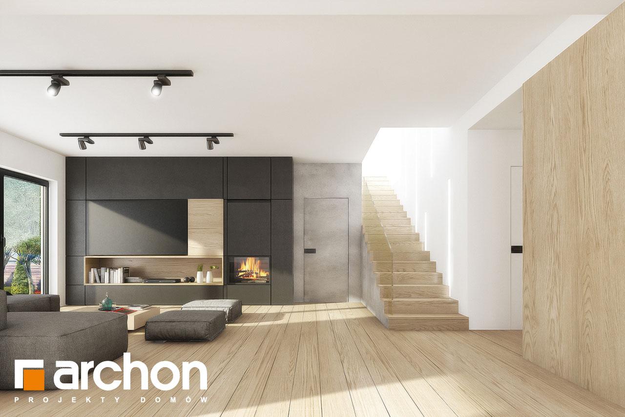 Проект дома ARCHON+ Вилла Миранда 11 (Г2) дневная зона (визуализация 1 вид 4)