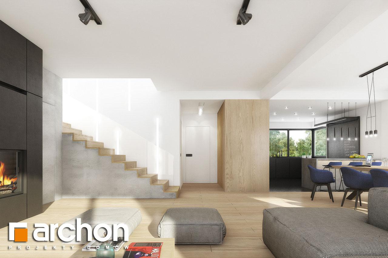 Проект дома ARCHON+ Вилла Миранда 11 (Г2) дневная зона (визуализация 1 вид 5)