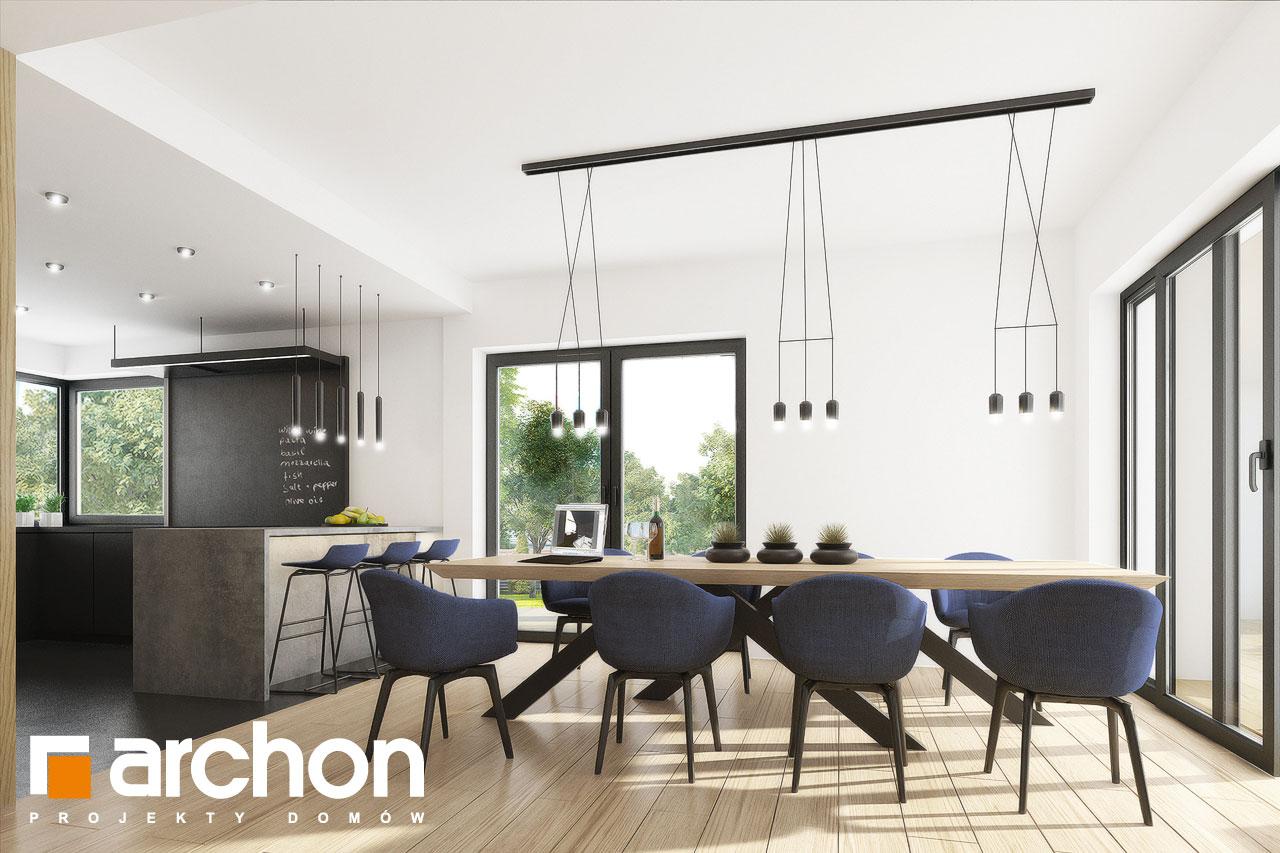 Проект дома ARCHON+ Вилла Миранда 11 (Г2) дневная зона (визуализация 1 вид 6)