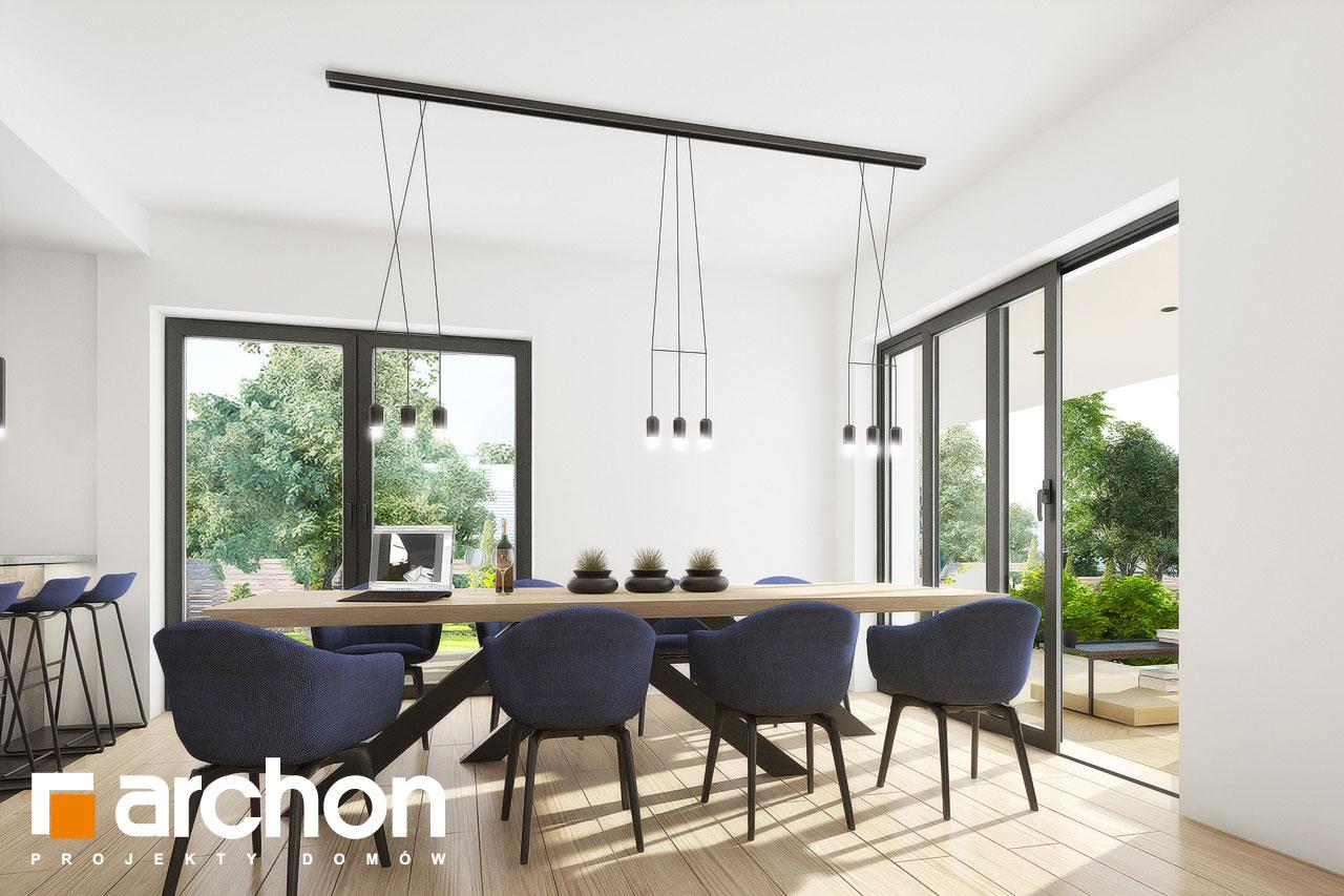 Проект дома ARCHON+ Вилла Миранда 11 (Г2) дневная зона (визуализация 1 вид 7)