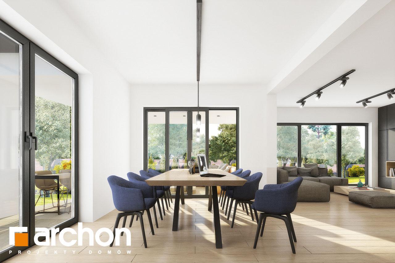 Проект дома ARCHON+ Вилла Миранда 11 (Г2) дневная зона (визуализация 1 вид 8)