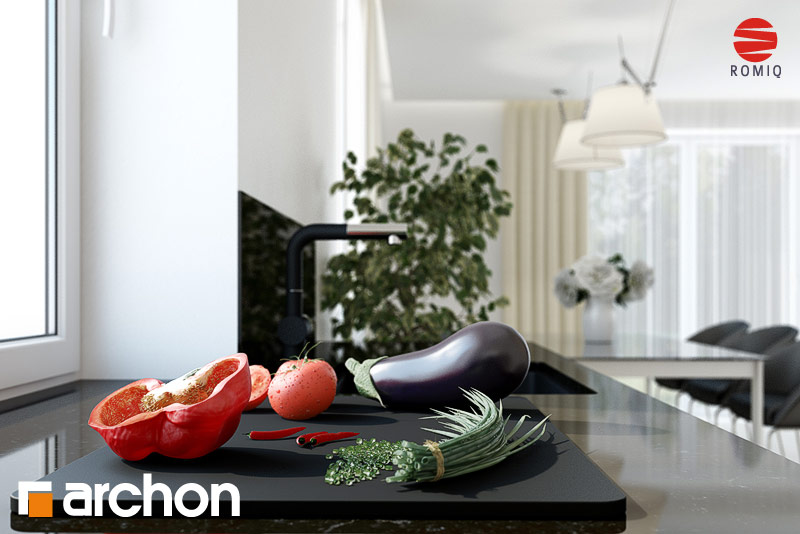 Проект будинку ARCHON+ Будинок у клематисах 11 аранжування кухні 1 від 4