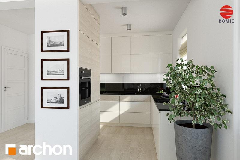 Проект дома ARCHON+ Дом в клематисах 11 аранжировка кухни 1 вид 1