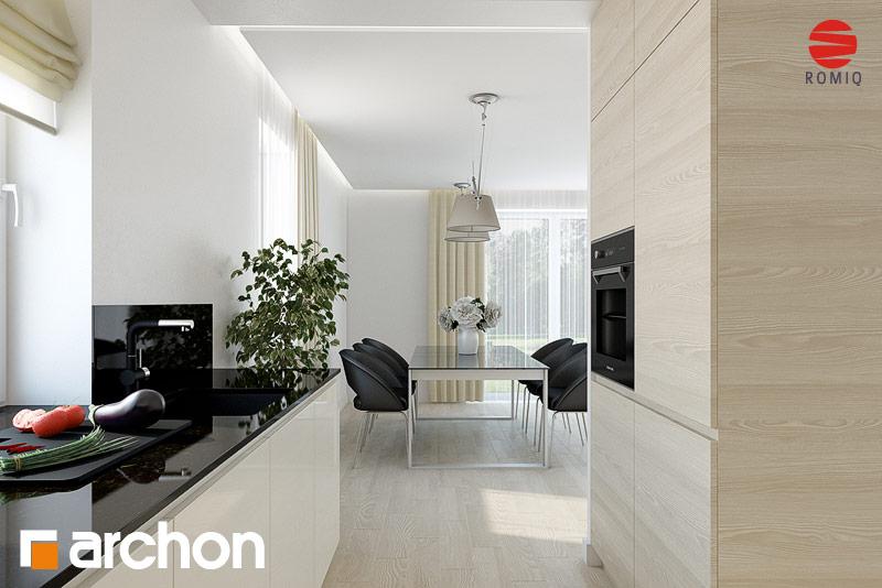 Проект дома ARCHON+ Дом в клематисах 11 аранжировка кухни 1 вид 2