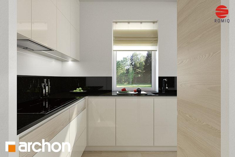Проект дома ARCHON+ Дом в клематисах 11 аранжировка кухни 1 вид 3