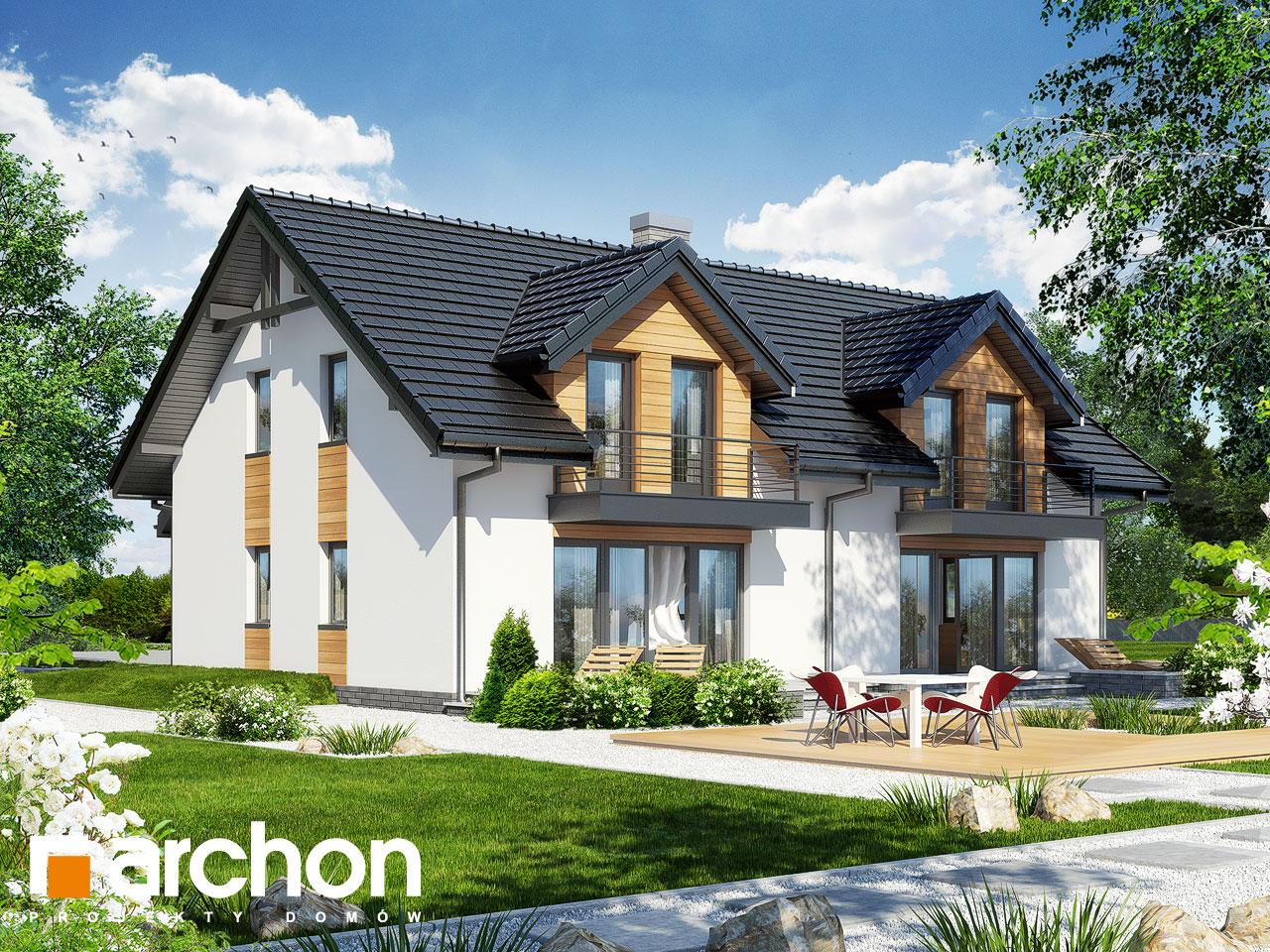 Проект дома ARCHON+ Дом в клематисах 11 Вид 2