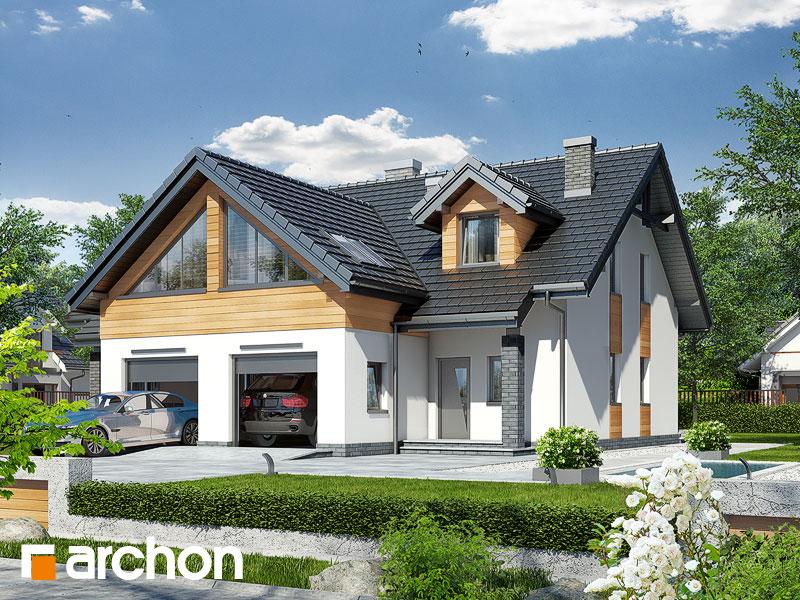 Проект дома ARCHON+ Дом в клематисах 11 Вид 1
