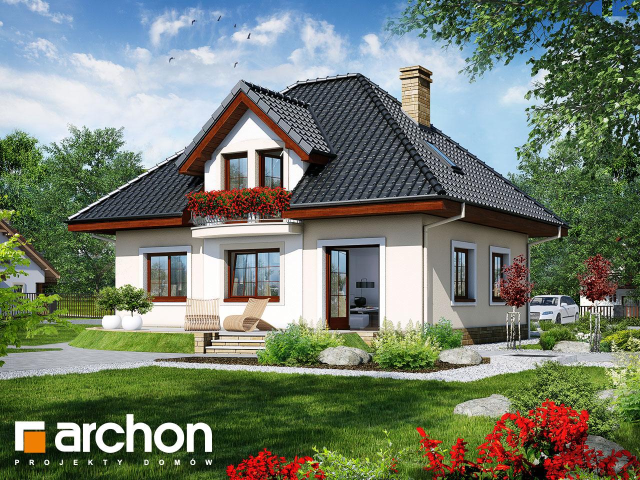 Проект будинку ARCHON+ Будинок під папаєю Вид 2