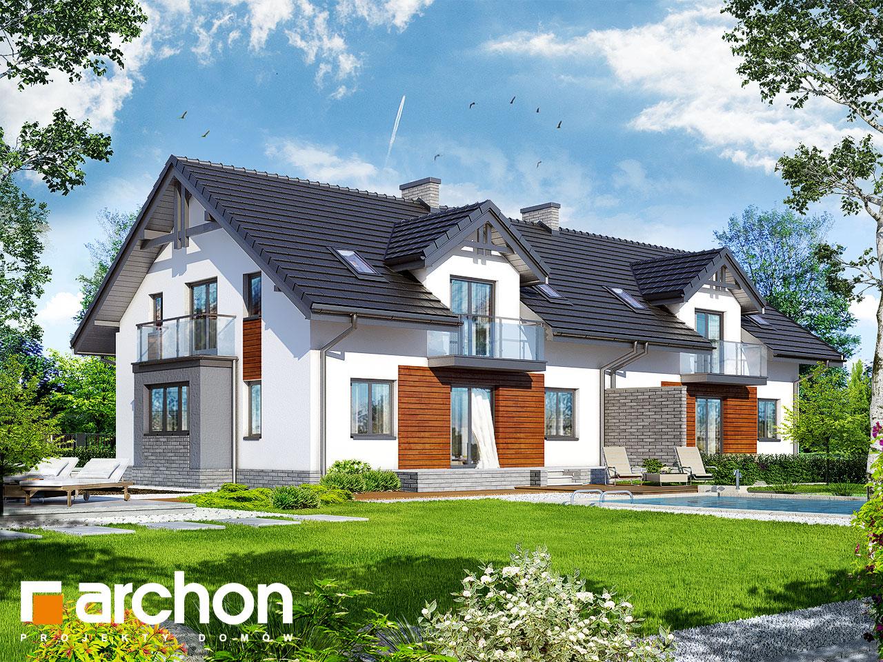 Проект будинку ARCHON+ Будинок в клематисах (Г2) візуалізація усіх сегментів