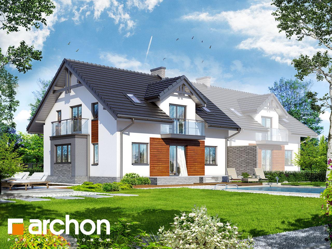 Проект будинку ARCHON+ Будинок в клематисах (Г2) Вид 2