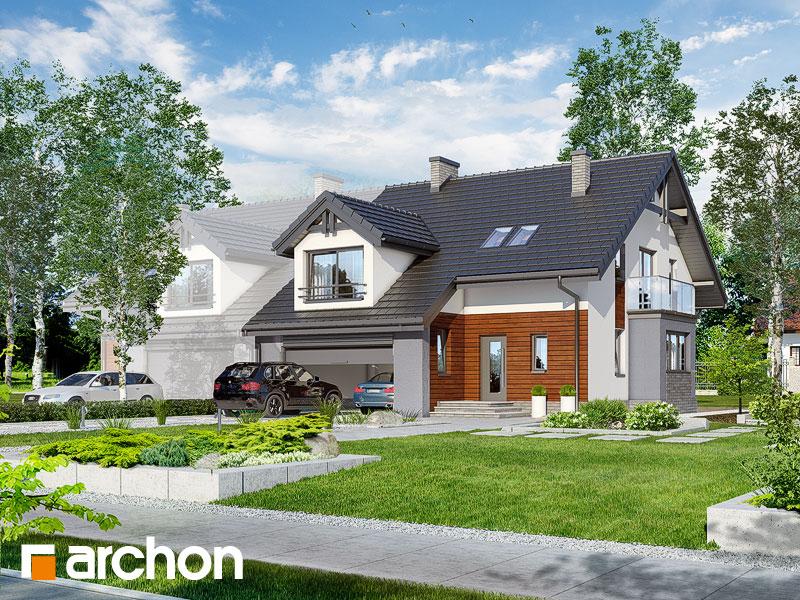 Проект будинку ARCHON+ Будинок в клематисах (Г2) Вид 1