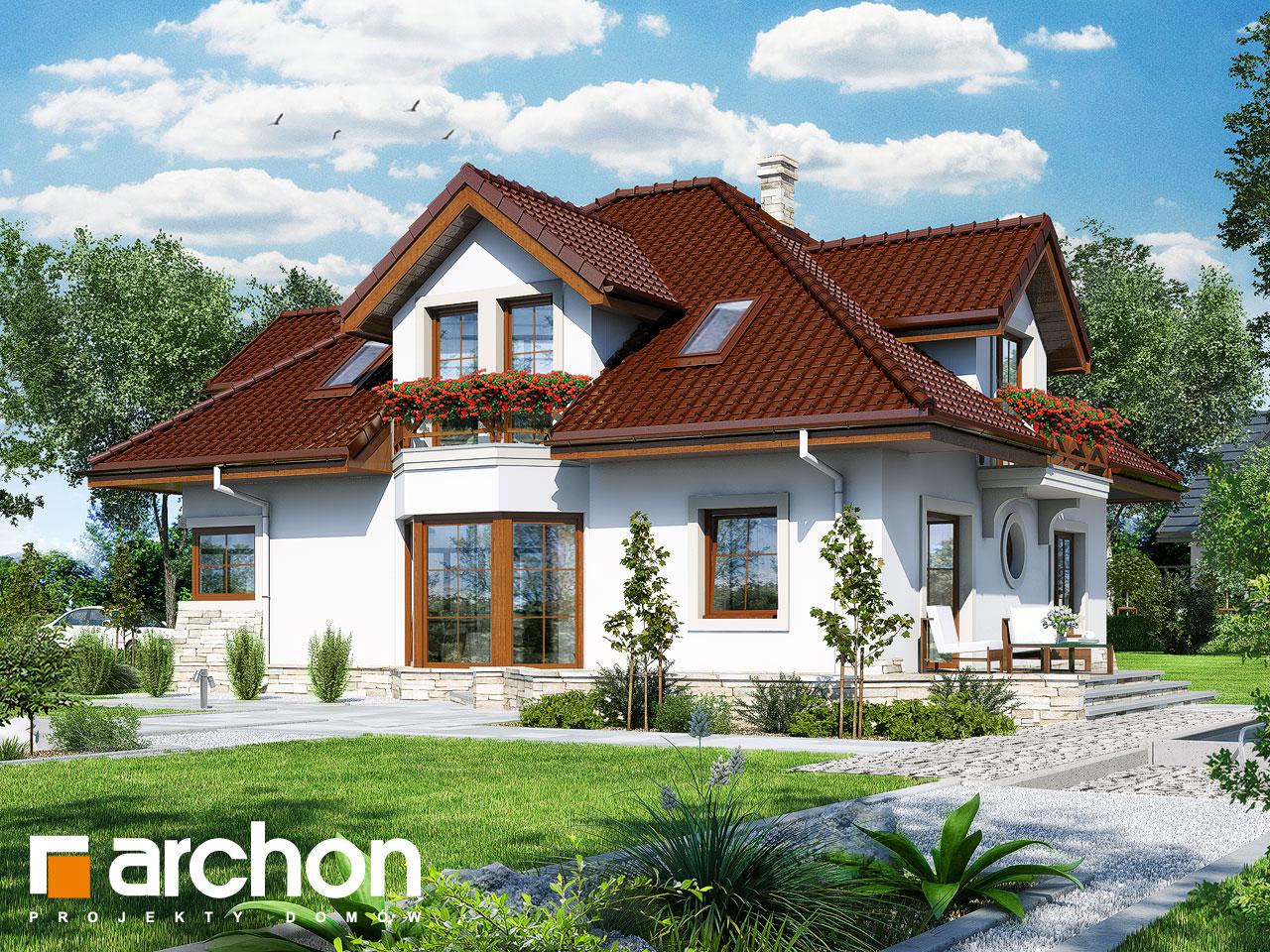 Проект будинку ARCHON+ Будинок в зубровці Вид 2