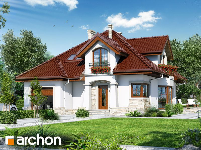 Проект будинку ARCHON+ Будинок в зубровці Вид 1