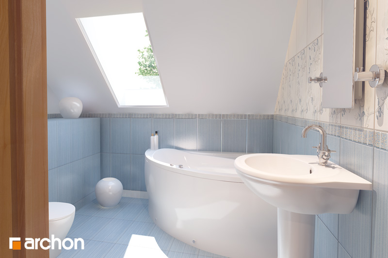 Проект дома ARCHON+ Дом в рододендронах 10 визуализация ванной (визуализация 3 вид 1)