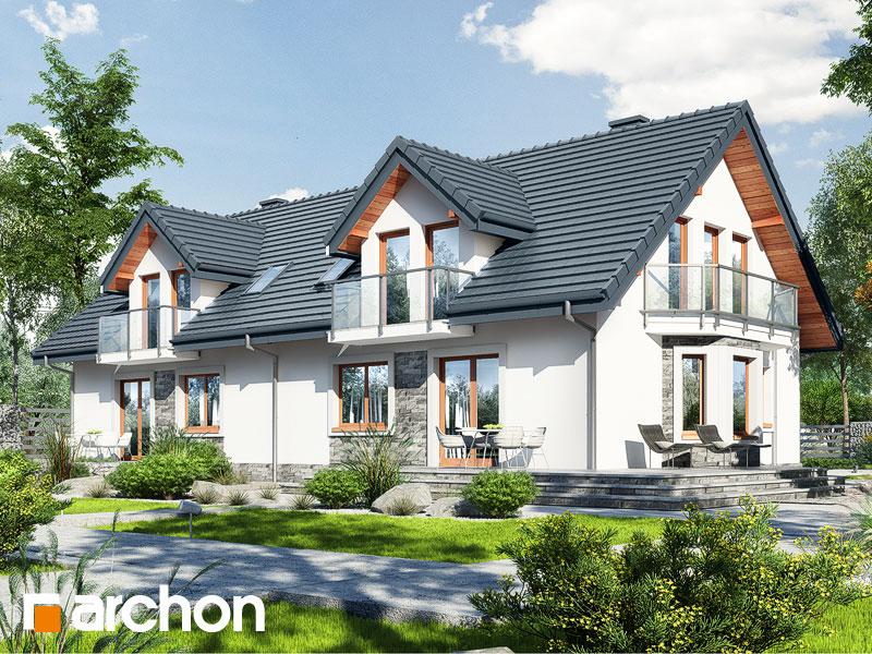 Проект дома ARCHON+ Дом в рододендронах 10 Вид 1