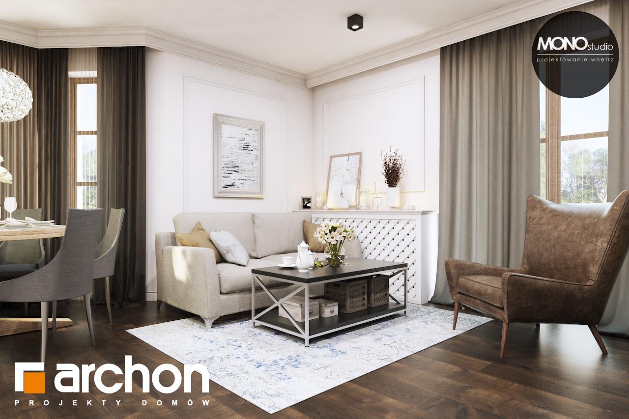 Проект дома ARCHON+ Дом в рододендронах 10 дневная зона (визуализация 3 вид 1)