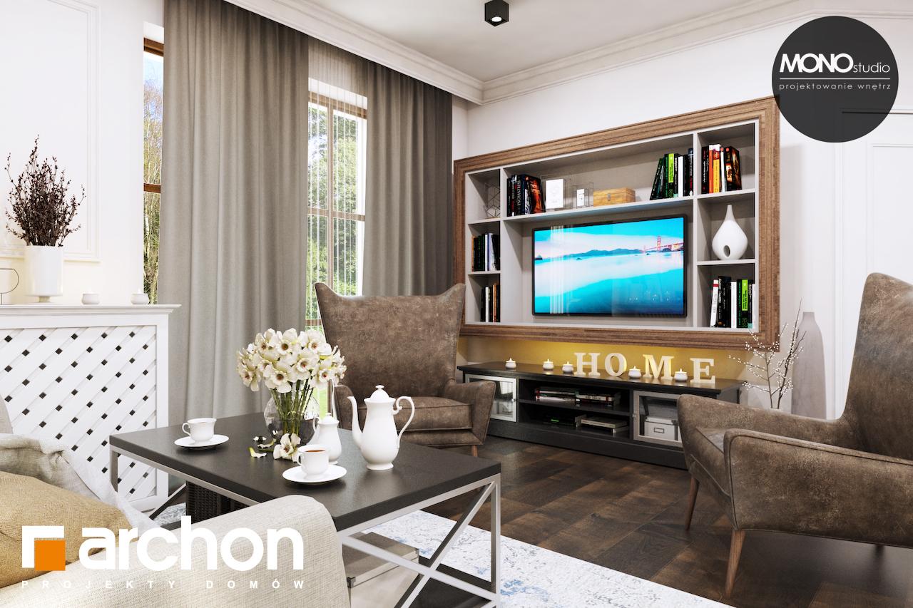 Проект дома ARCHON+ Дом в рододендронах 10 дневная зона (визуализация 3 вид 3)
