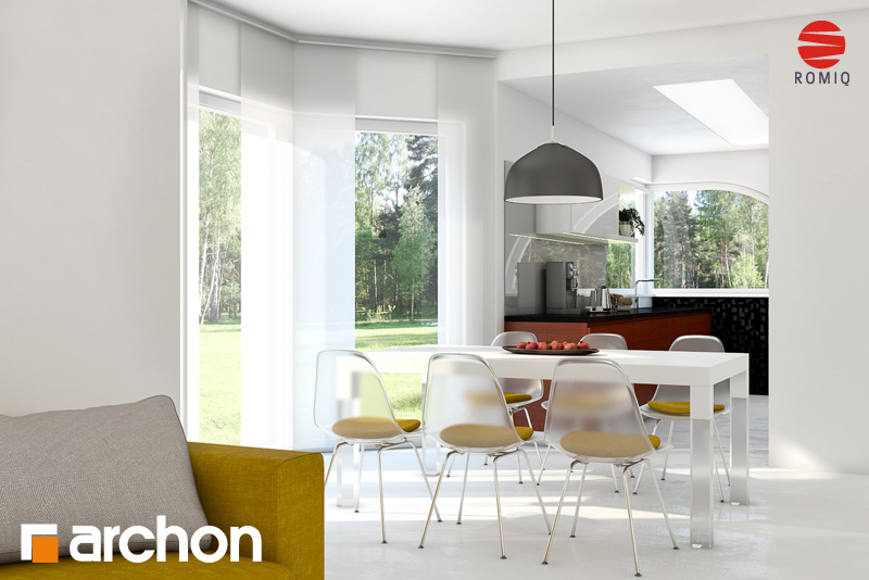 Проект будинку ARCHON+ Будинок в зефірантесі аранжування кухні 1 від 1