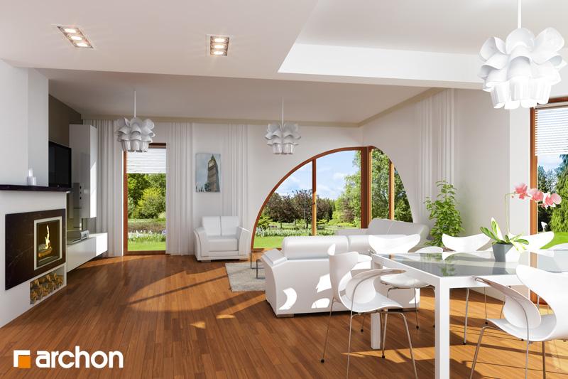 Проект будинку ARCHON+ Будинок в зефірантесі денна зона (візуалізація 1 від 1)