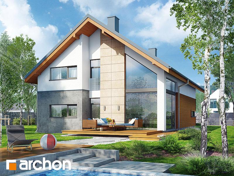 Проект будинку ARCHON+ Будинок в кирказоні стилізація 3