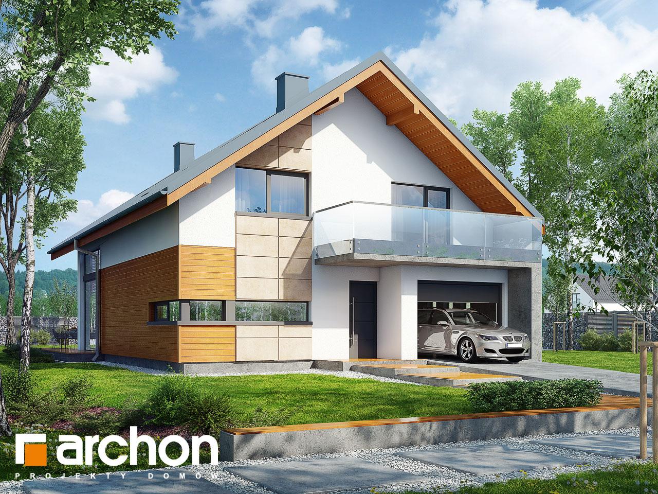 Проект будинку ARCHON+ Будинок в кирказоні Вид 2