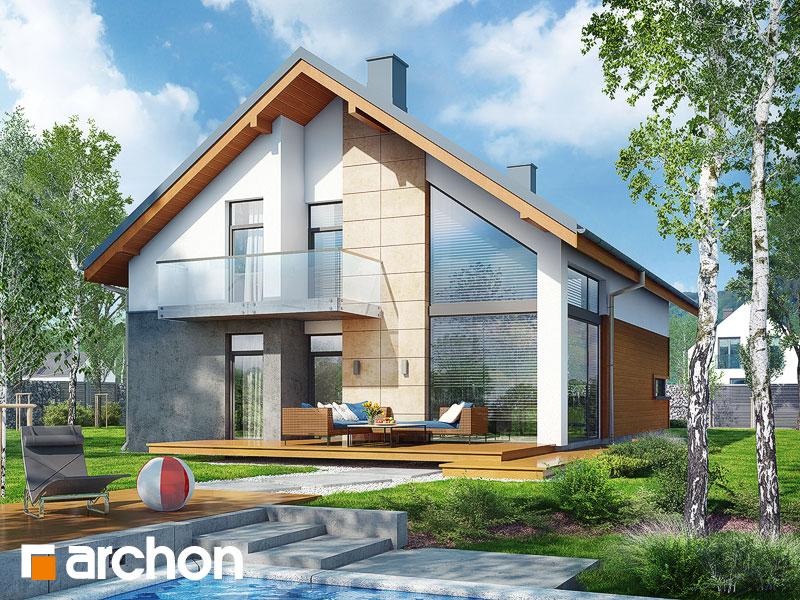 Проект будинку ARCHON+ Будинок в кирказоні Вид 1