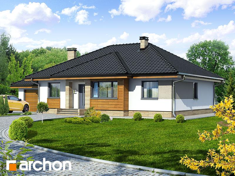 Проект будинку ARCHON+ Будинок в акебіях Вид 1