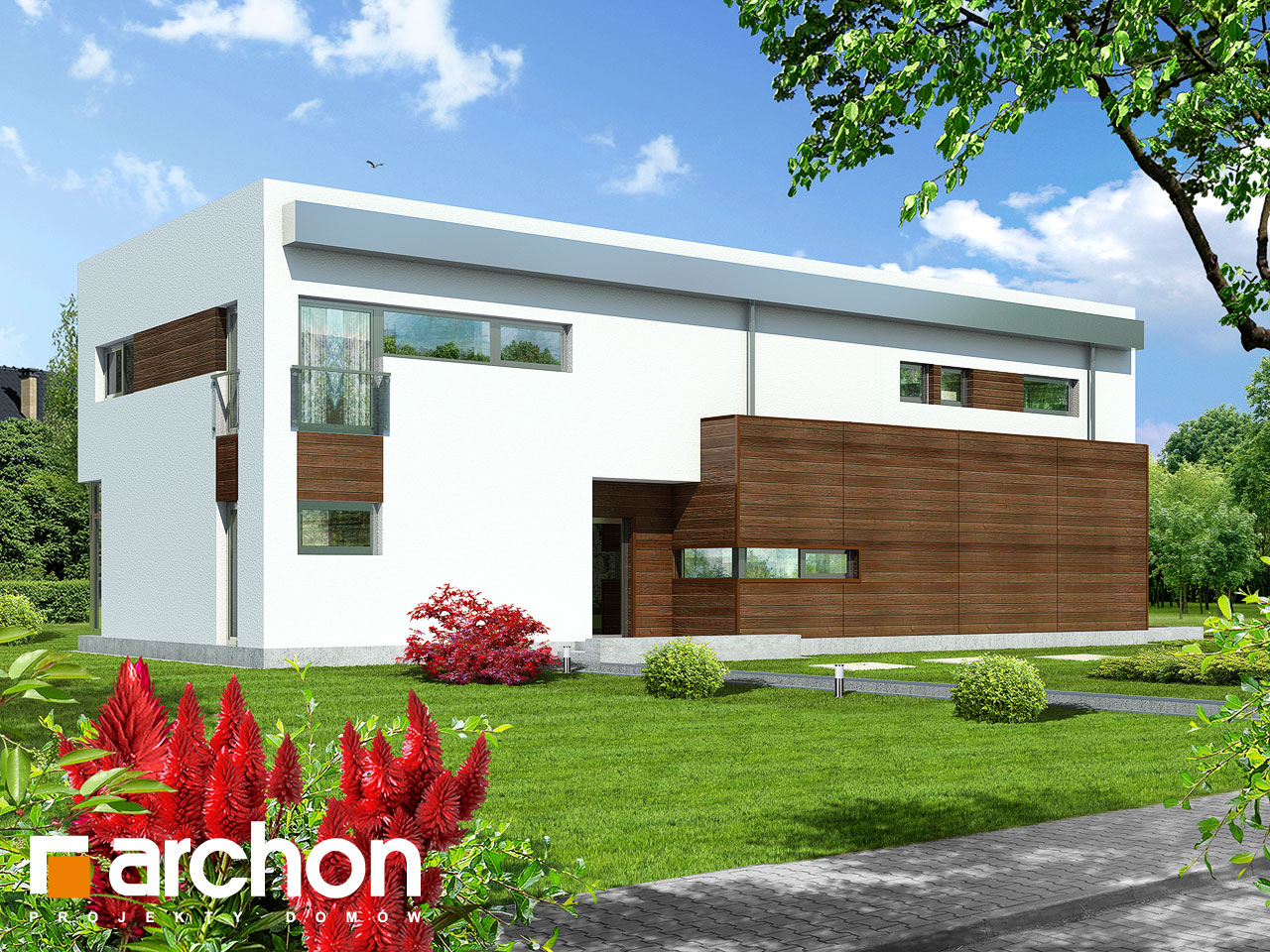 Проект будинку ARCHON+ Будинок в караганах Вид 2