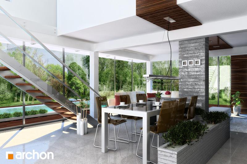 Проект будинку ARCHON+ Будинок в караганах денна зона (візуалізація 1 від 1)