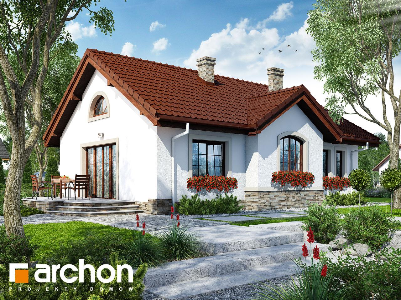 Проект будинку ARCHON+ Будинок в газаніях  Вид 2