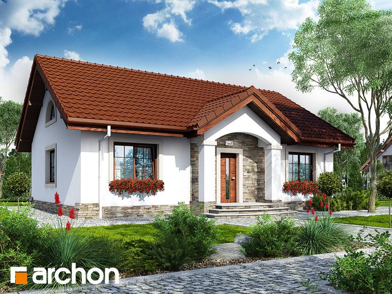 Проект будинку ARCHON+ Будинок в газаніях  Вид 1