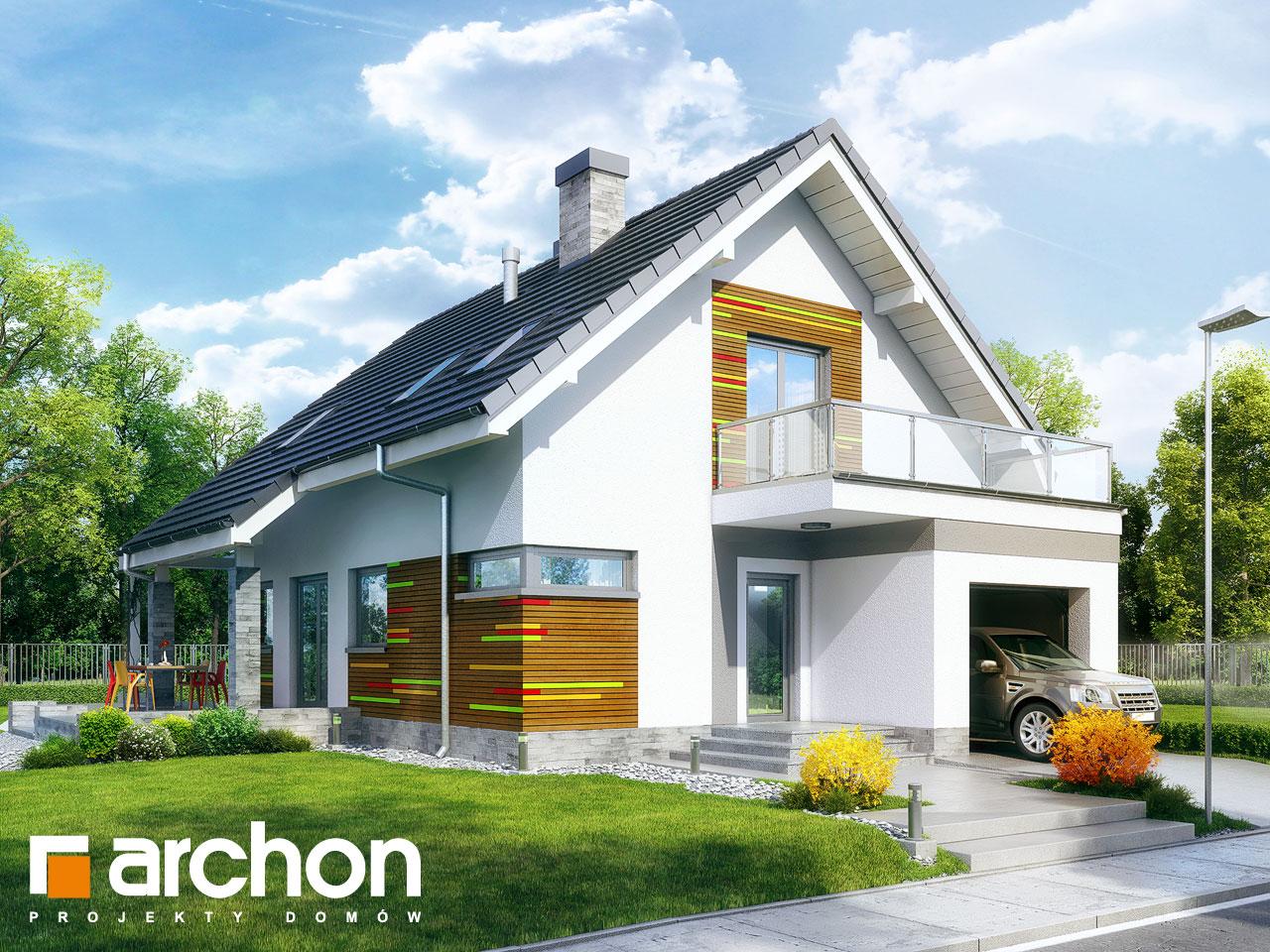 Проект будинку ARCHON+ Будинок в аденофорах стилізація 3